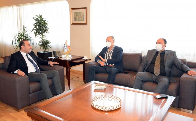 Minister Abass Mourtada meets MP Ali Fayad