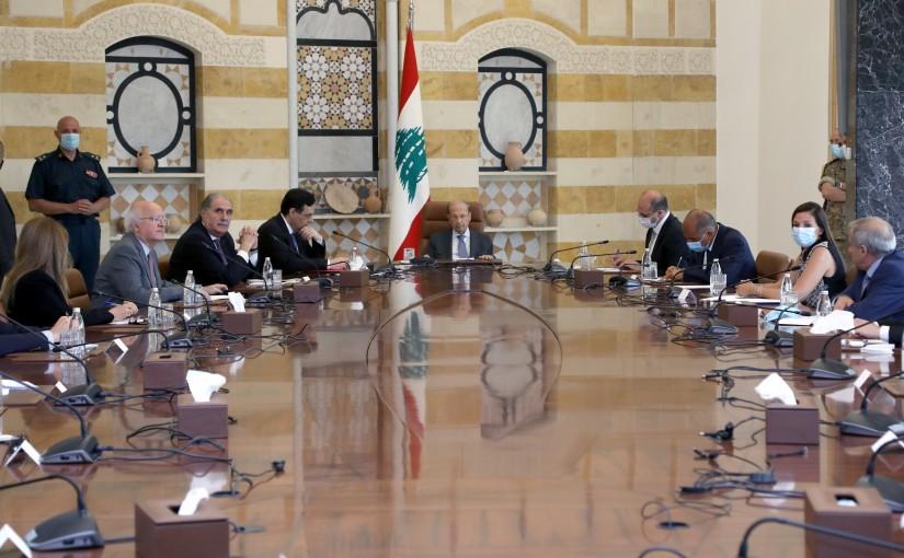 President Michel Aoun Meets a Delegation of Drug Importers & Drug Manufacturers