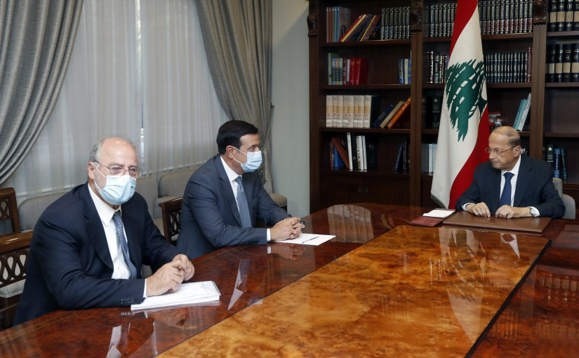 President Michel Aoun Meets Minister Michel Najjar