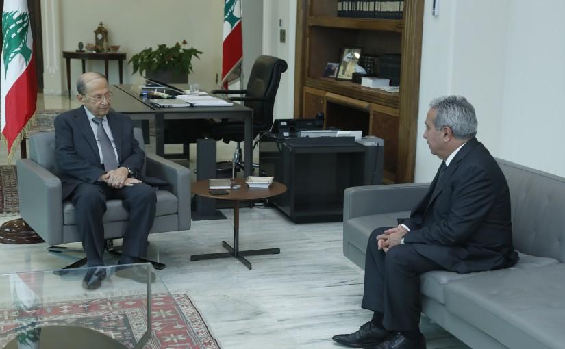 President Michel Aoun Meets Minister Ramzi Mcharafieh