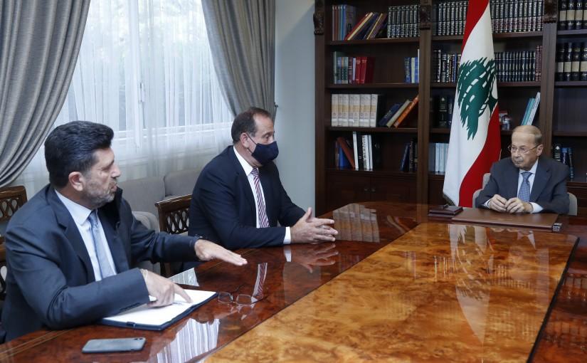 President Michel Aoun Meets Ministers Imad Habballah & Raymond Ghajar