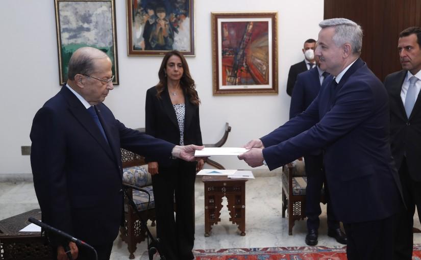 President Michel Aoun Meets Moldavia Ambassador