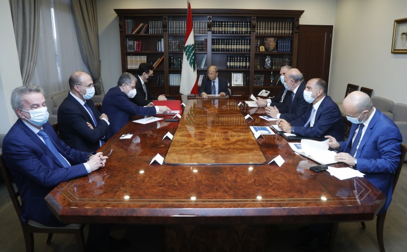 President Michel Aoun Heading The Drug Crisis Meeting
