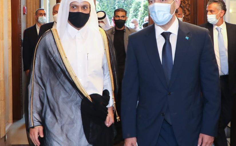 Pr Minister Saad Hariri meets Qatar Minister of Foreign Affairs