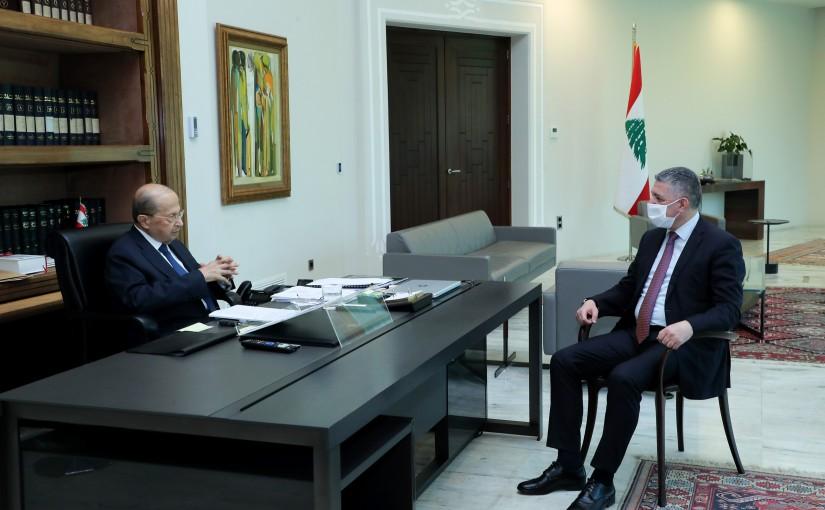 President Michel Aoun meets MP George Attalah