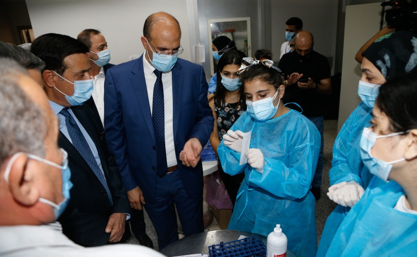 Tour for Minister Hassan Hamad at Rafic Hariri Airport