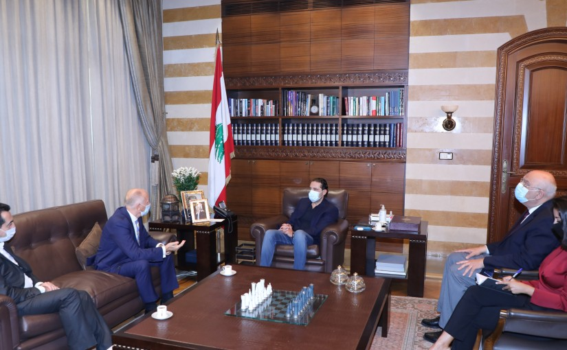 Pr Minister Saad Hariri meets Ukraine Ambassador