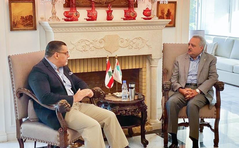 MP Talal Erslan meets Egyptian Ambassador