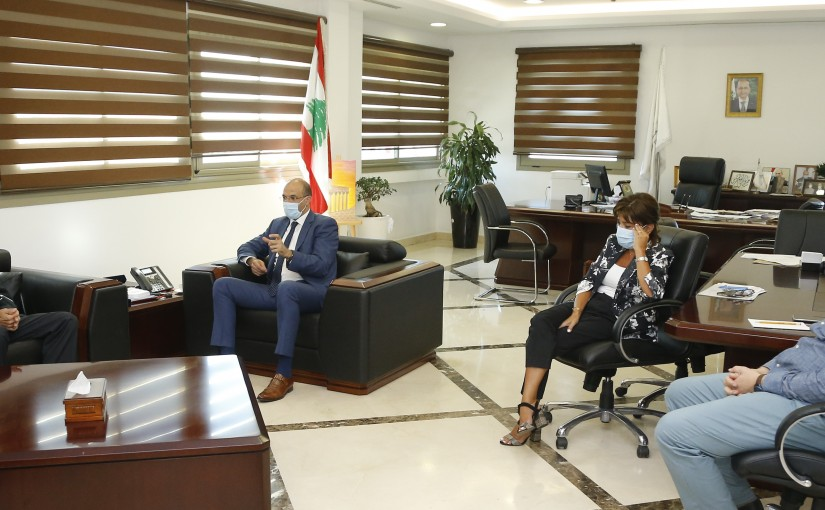 Minister Hassan Hamad meets a Delegation from Medicine Importers Association