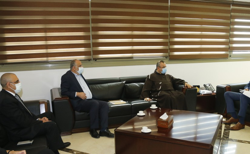 Minister Hassan Hamad meets a Delegation from Caritas