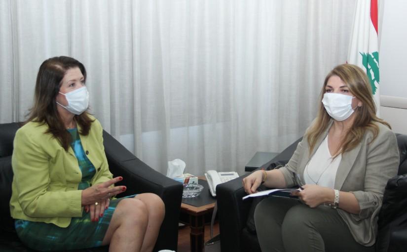 Minister Marie Claude Najem meets US Ambassador