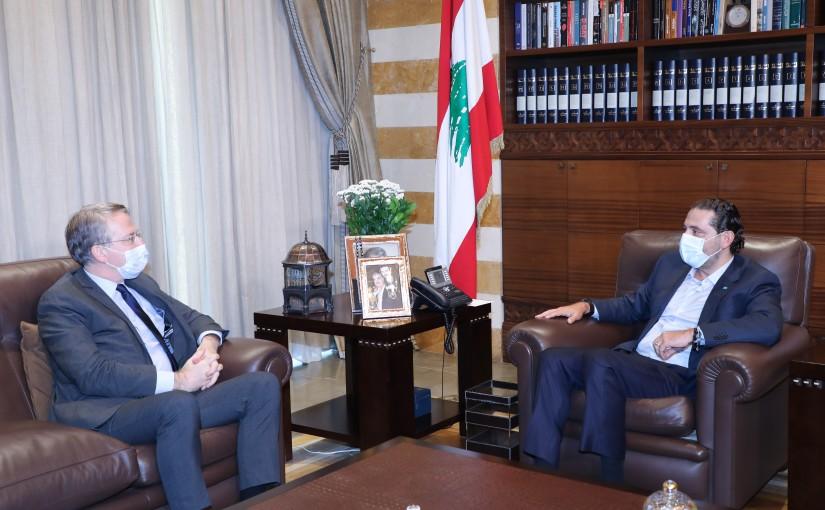 Pr Minister Saad Hariri meets Mr Patrick Durell