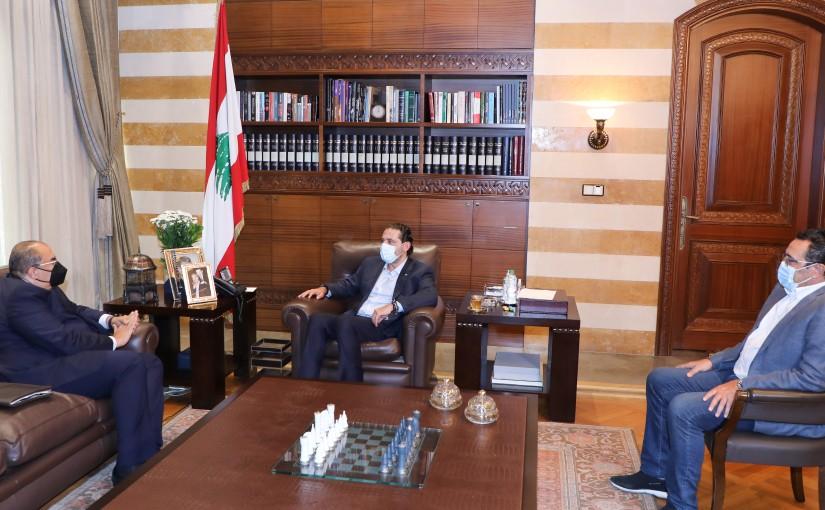 Pr Minister Saad Hariri meets Mr Mahmoud Mehi el Dine