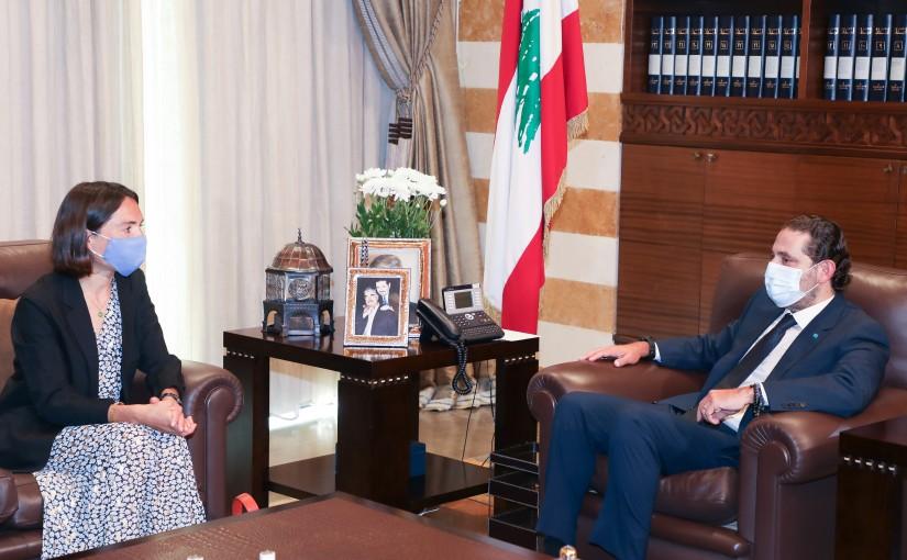 Former Pr Minister Saad Hariri meets a French Delegation