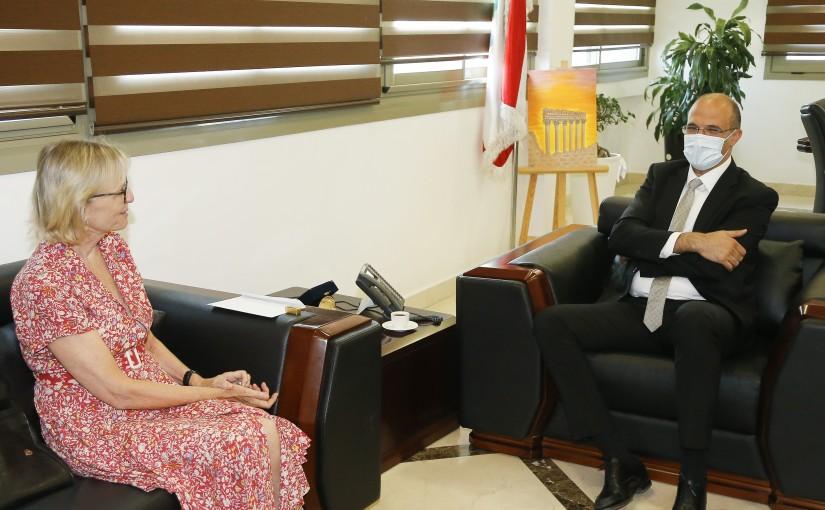 Minister Hassan Hamad meets Swiss Ambassador