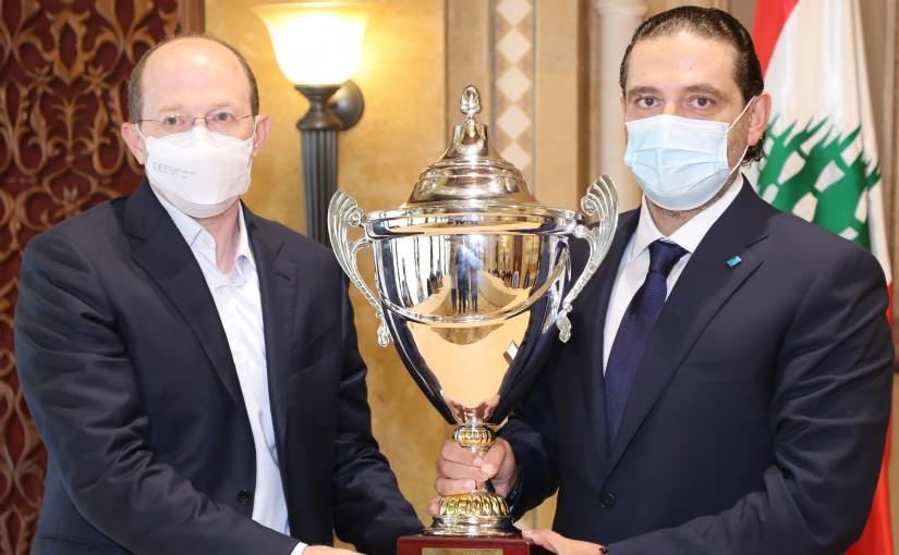 Former Pr Minister Saad Hariri meets a Delegation from Riyadeh Club