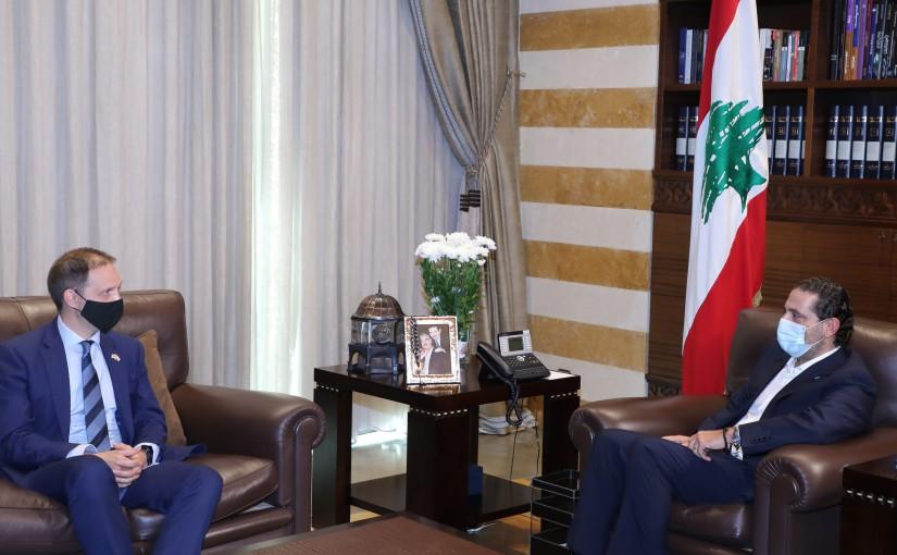 Former Pr Minister Saad Hariri meets British Ambassador