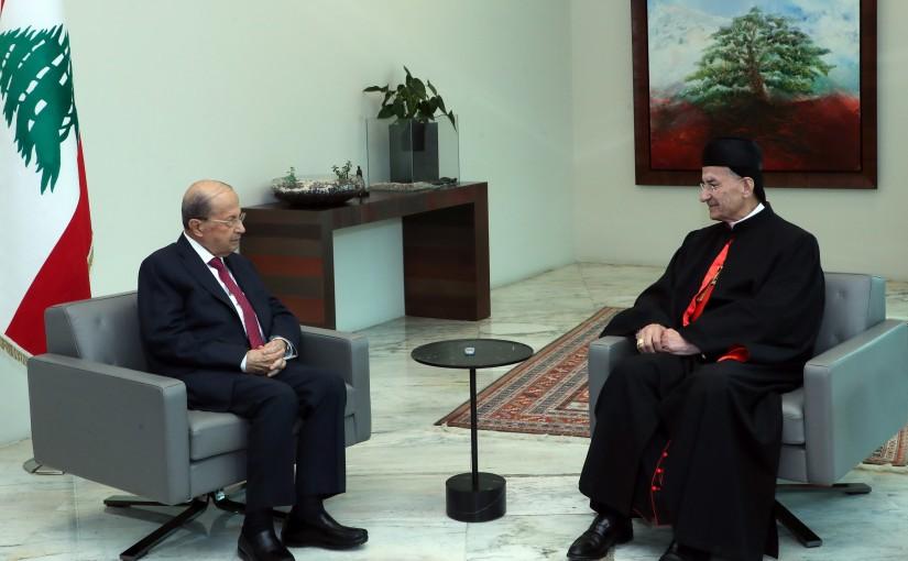 President Michel Aoun Meets Patriarch Mar Bechara Boutros Raii