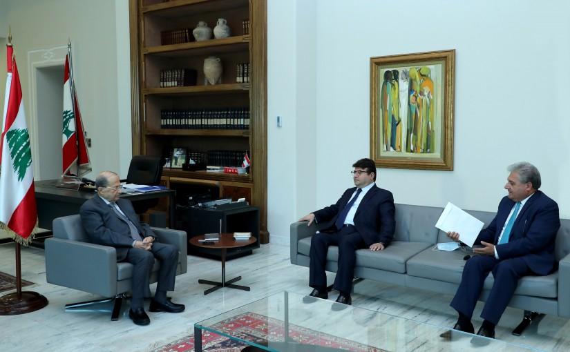 President Michel Aoun Meets Mr Paul Kanaan and Mr George Arab
