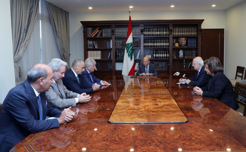 President Michel Aoun Meets the Highest Council for the Greek Orthodox