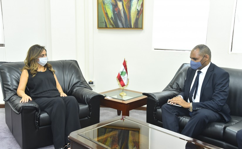 Minister Zeina Akkar meets Ethiopian Ambassador