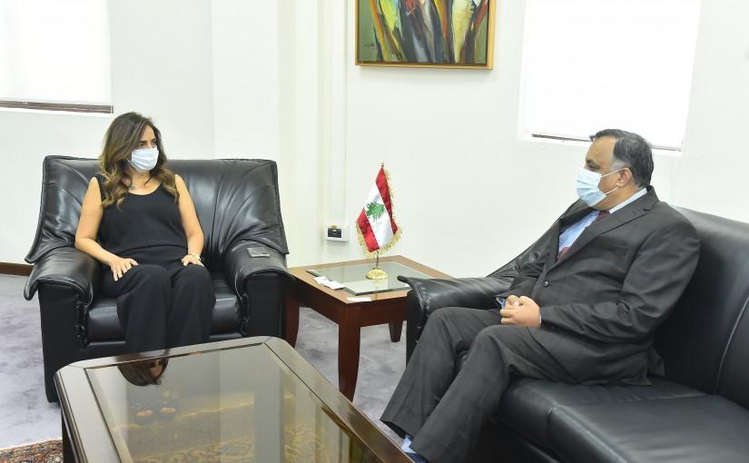 Minister Zeina Akkar meets Indian Ambassador