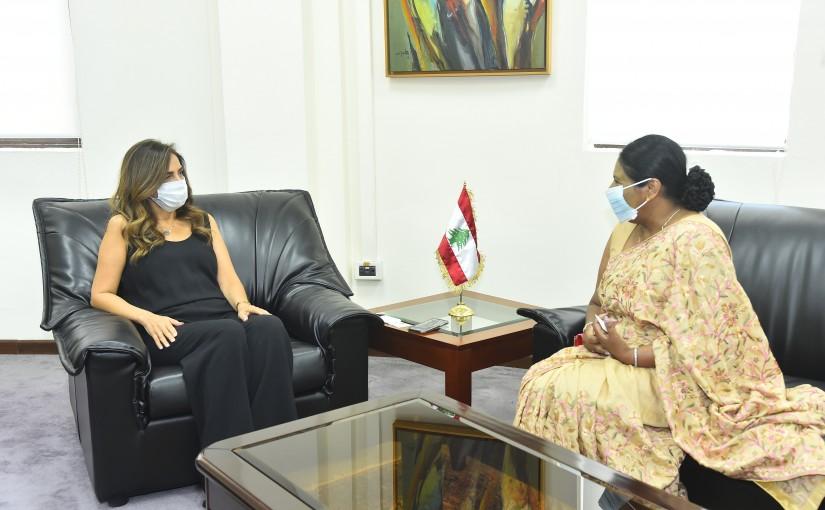 Minister Zeina Akkar meets Srilanka Ambassador