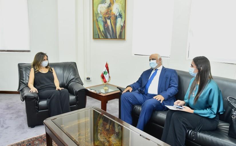 Minister Zeina Akkar meets Colombia Ambassador