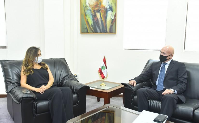 Minister Zeina Akkar meets Argentina Ambassador
