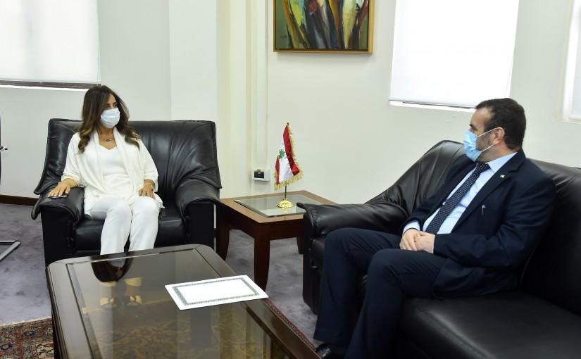 Minister Zeina Akkar meets Algerian Ambassador