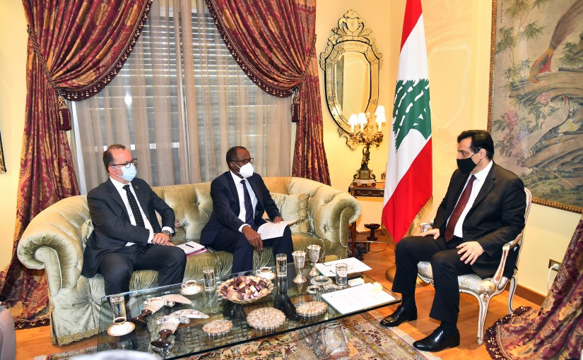 Pr Minister Hassan Diab meets a Delegation from UNICEF