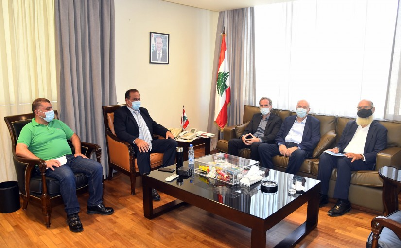 Minister Imad Heballah meets a Delegation from Cement Syndicate