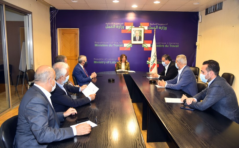 Minister Lamya Yamine meets a Delegation from Lebanese Union