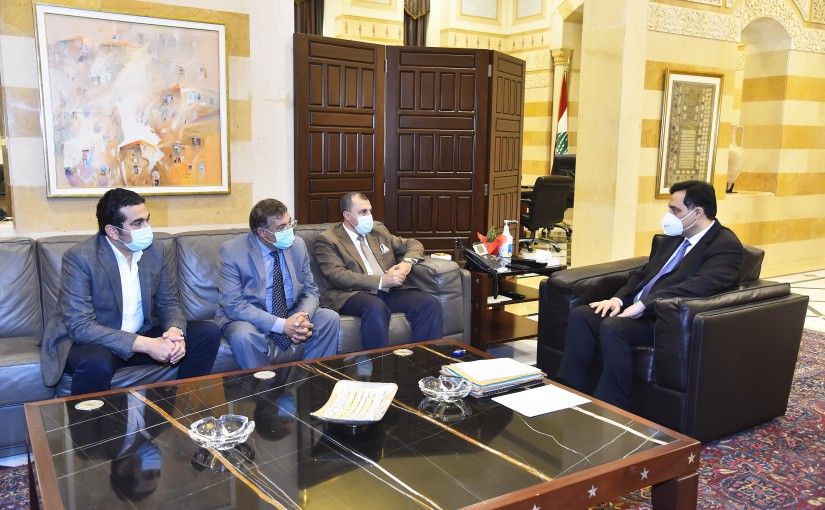 Pr Minister Hassan Diab meets a Egyptian Delegation