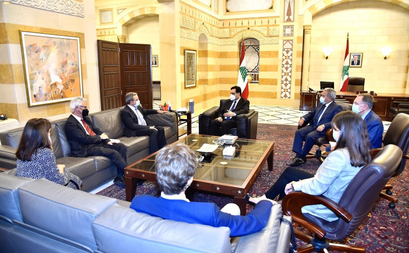 Pr Minister Hassan Diab meets a French Delegation