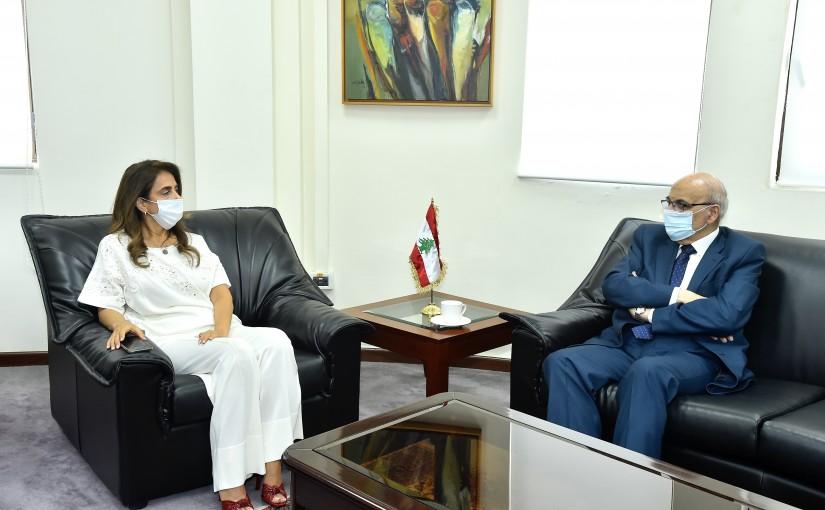 Minister Zeina Akkar meets Mr Nassreh Khoury