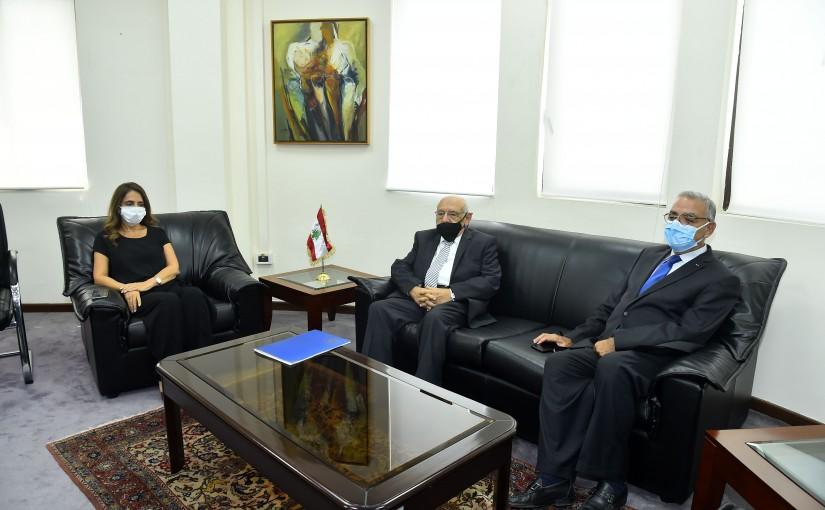Minister Zeina Akkar meets Former MP Neamtalah Abi Naser