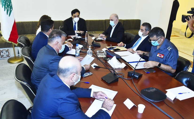 Pr Minister Hassan Diab Attends a meeting for Fuel Crisis