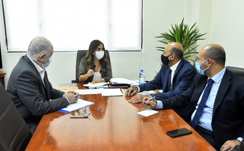 Minister Zeina Akkar meets Mouhamad Fehmi with a Delegation