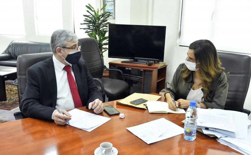 Minister Zeina Akkar meets Minister Tarek el Mazjoub