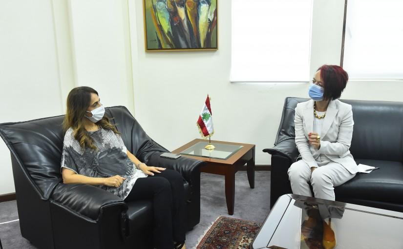 Minister Zeina Akkar meets Mrs Corine Flesher