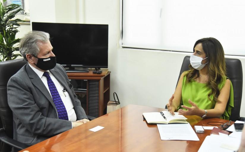 Minister Zeina Akkar meets Mr Alain Duyal with a Delegation