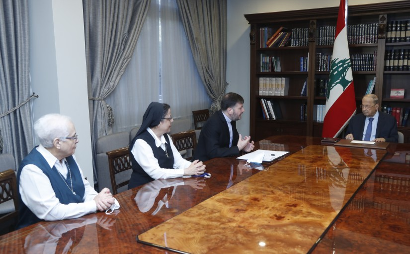 President Michel Aoun Meets General Secretary of The Lebanese Catholic Schools Father Yousef Naser