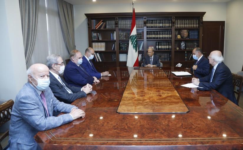 President Michel Aoun Meets Minister of Health Hamad Hassan & MP Farid Bustani