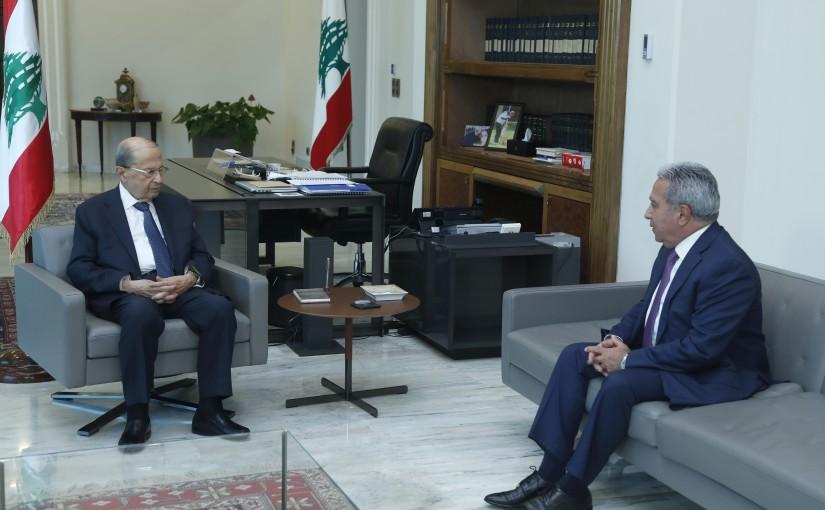 President Michel Aoun  Meets Minister of Social Affairs & Tourism Ramzi Mcharafiyeh