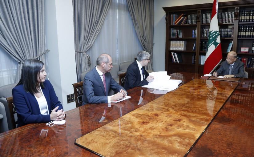 President Michel Aoun Meets Minister of Education Tarek El Majzoub