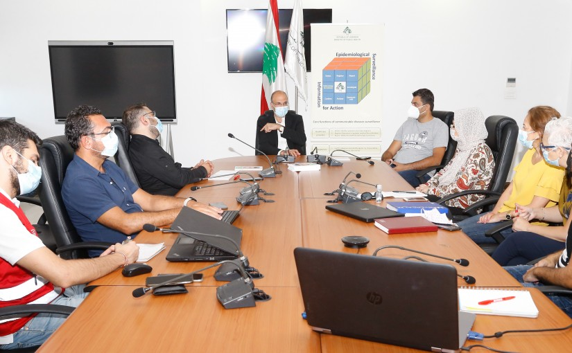Minister Hassan Hamad meets a Delegation from Covid Centre