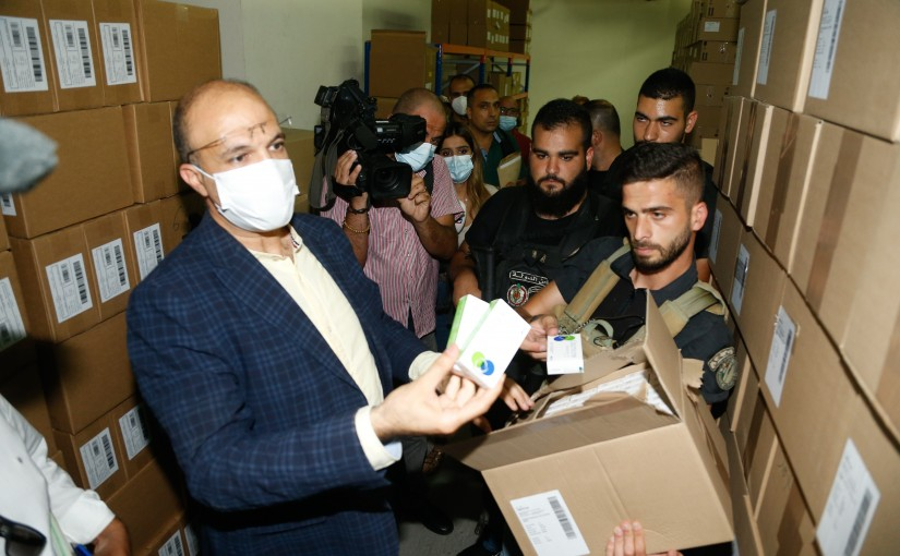 Minister Hassan Hamad Visits Drugs Store in fiyadieh