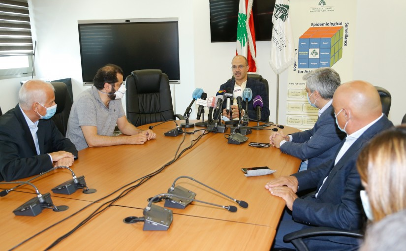 Minister Hassan Hamad meets a Delegation from Drugs Store Syndicate