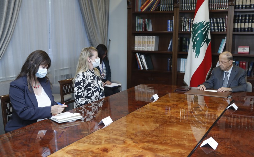 President Michel Aoun Meets a Delegation From International Red Cross